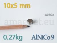 AlNiCo magnet - Ketas 10x5mm [alnico9]