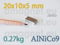 AlNiCo magnet - Plokk 20x10x5mm [alnico9]