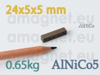 AlNiCo magnet - Plokk 24x5x5mm [alnico5]
