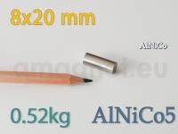 AlNiCo magnet - Silinder 8x20mm [alnico5]