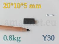 Ferriit magnet - Plokk 20x10x5mm [Y30]