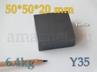 Ferriit magnet - Plokk 50x50x20mm [Y35]