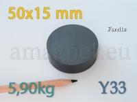 Ferriit magnet - Ketas 50x15mm [Y33]