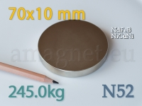 Neodüümmagnet - Ketas 70 * 10mm [N52]