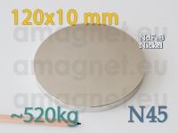 Neodüümmagnet - Ketas 120 * 10mm [N45]