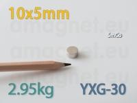 SmCo magnet - Ketas 10x5mm [YXG-30]