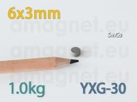 SmCo magnet - Ketas 6x3mm [YXG-30]