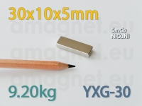 SmCo magnet - Plokk 30x10x5mm [YXG-30]