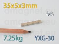 SmCo magnet - Plokk 35x5x3mm [YXG-30]