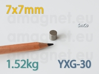 SmCo magnet - Silinder 7x7mm [YXG-30]
