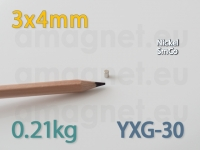 SmCo magnet - Silinder 3x4mm [YXG-30]
