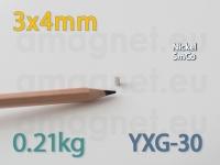 SmCo magnet - Cylinder 3x4mm [YXG-30]